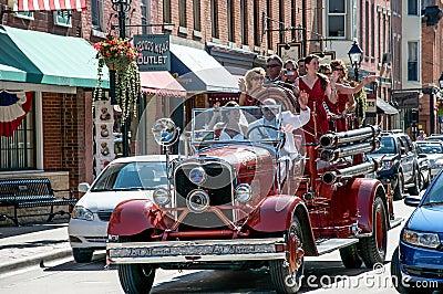 Huwelijk in Loodglans, Illinois Redactionele Stock Foto