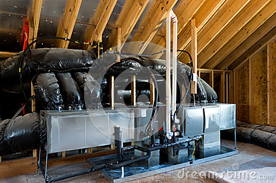 HVAC in residential house