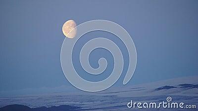 Hveravellir blue moon over glacier