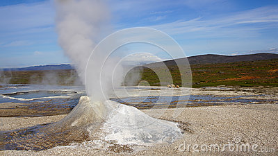 Hveravellir fumarole and hot spring