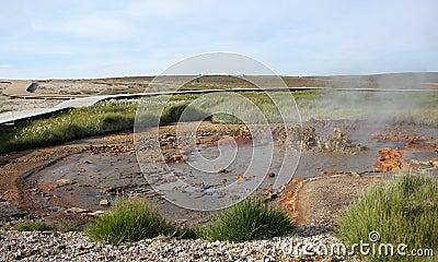 Hveravellir mud geysir panorama