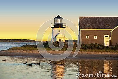 Hyannis Harbor lighthouse, Cape Cod, MA, USA