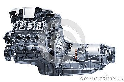 Hybrid car engine