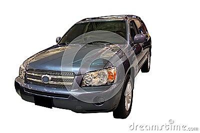 Hybrid Vehicle Isolated Over White
