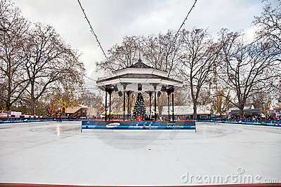 Hyde Park Ice Rink Editorial Photography