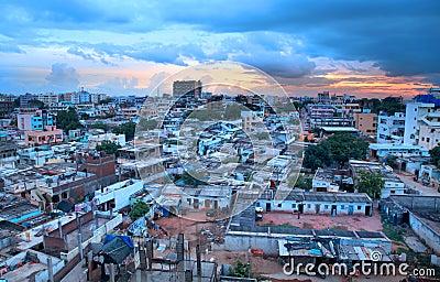 Slums of Hyderabad,India Editorial Stock Image
