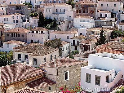 Hydra Island, Greece - View Of The Town Royalty Free Stock Photography - Image: 4030367