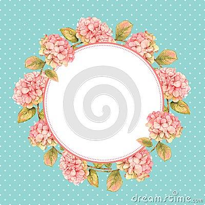 Free Hydrangea Floral Wreath Royalty Free Stock Photos - 66342958