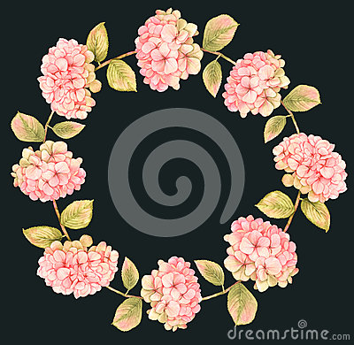 Free Hydrangea Floral Wreath Royalty Free Stock Photo - 66342985