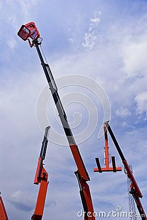 Hydraulic Cranes With Cherry Picker Basket