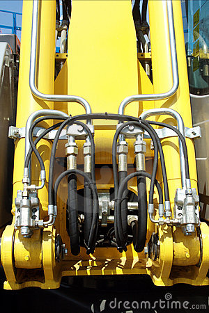Free Hydraulic Lift Pressure Pipes System Stock Images - 8520034