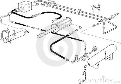 Hydraulic system illustration