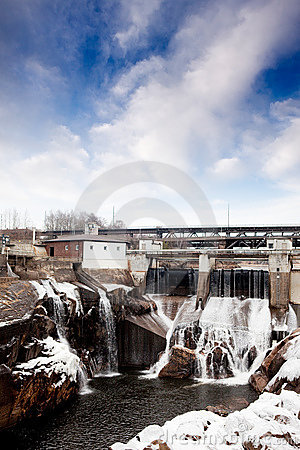 Hydro Dam Winter