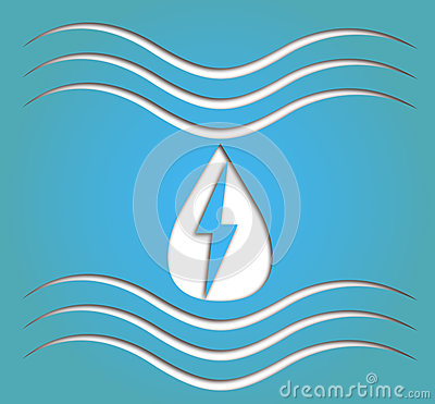 Hydro energy symbol