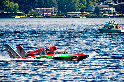 Hydro race boat Editorial Stock Image
