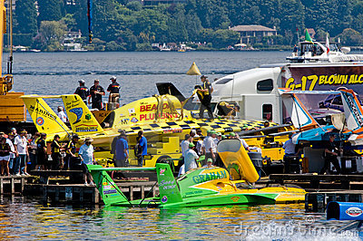 Hydro Race Pits Seafair Editorial Stock Photo