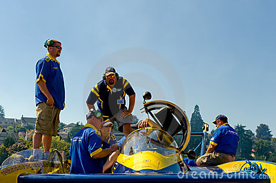 Hydro racing boat crew Editorial Stock Photo