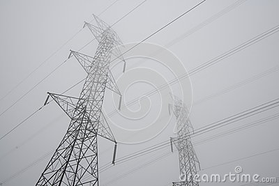 Hydro Towers in Fog