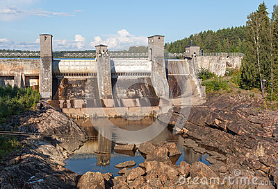 Hydroelectric power station in Imatra