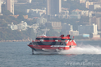 Hydrofoil ferry boat Editorial Photography