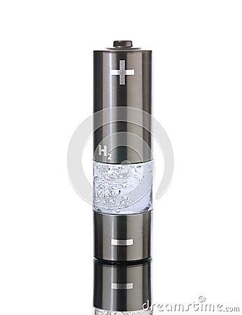 Free Hydrogen AA (R6) Battery Stock Image - 4980671