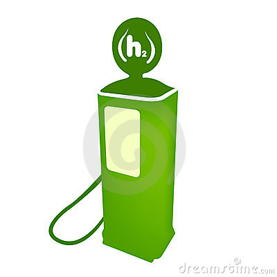 Hydrogen clean fuel pump vector