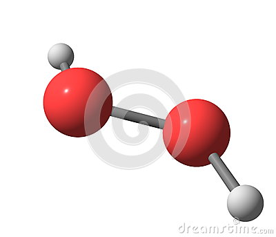 Hydrogen Peroxide H2o2 Molecular Structure Isolated On