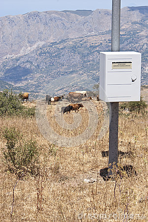 Hydrometeorological station in the mountains