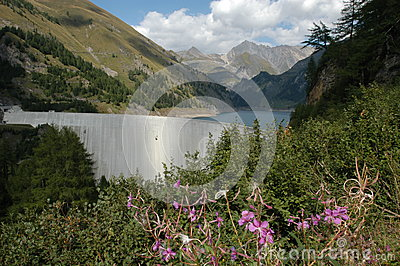Hydropower dam of Luzzone