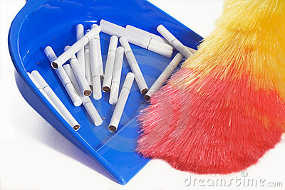 Hygiene cleaning scoop cigarettes broom