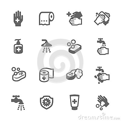 Free Hygiene Icons Royalty Free Stock Image - 60946816