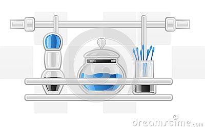 Hygiene items on shelf