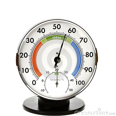 Free Hygrometer And Thermometer Stock Image - 35430211