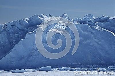 Hylla för Antarktis Weddell havsRiiser Larsen is