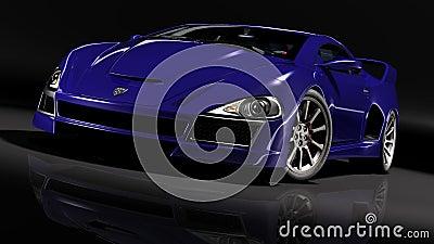 Hyper car blue 1