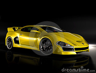 Hyper car yellow 1