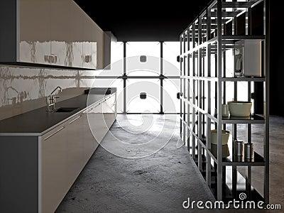 Hyper modern kitchen