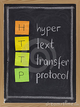 Stock Photography Hyper text transfer protocol http
