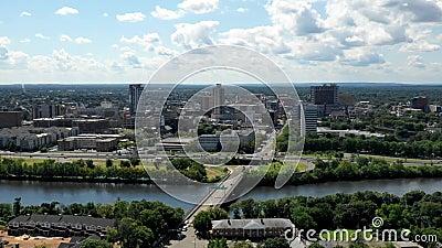 Hyperlapse i nya New Brunswick - ärmlös tröja stock video