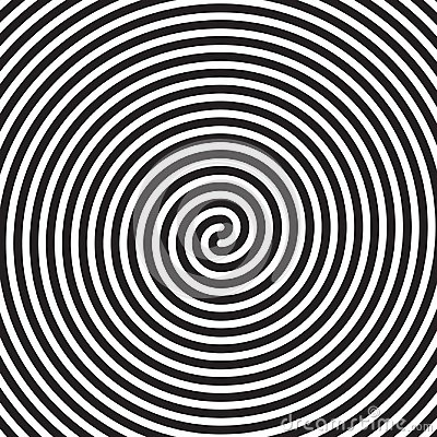 Free Hypnotic Circles Abstract White Black Vector Spiral Swirl Optical Illusion Pattern Background Royalty Free Stock Photos - 102870838