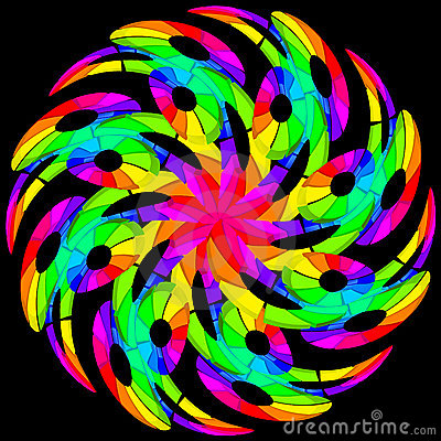 Hypnotic color swirl