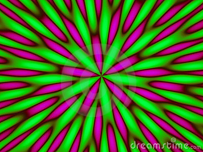 Hypnotic green abstract