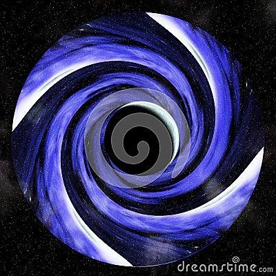 Hypnotic vortex of lunar eclipse