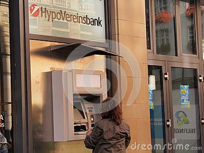 HypoVereinsbank ATM Editorial Stock Image