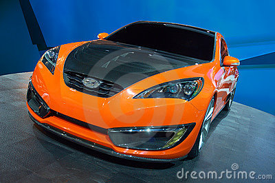 Hyundai Genesis Coupe Concept Editorial Stock Photo