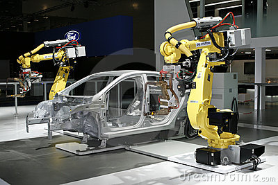 Hyundai Industrial robots for welding & handling Editorial Photo