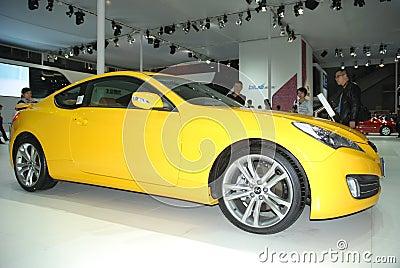 Hyundai yellow car Editorial Photography