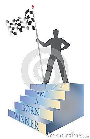I am a Born Winner Victor Illustration