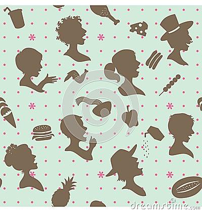 I eat and enjoy pattern