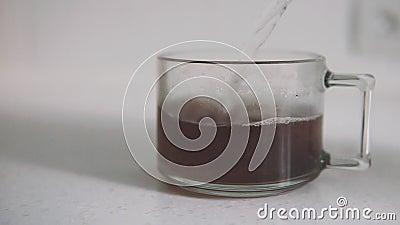 I granelli asciugano il tè nero archivi video